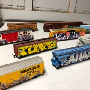 Hand Painted HO train